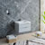 """32"""" Glossy Gray Cabinet with Sink Side View"""