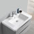 """32"""" Glossy Gray Cabinet with Sink Overhead View"""