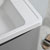 """32"""" Glossy Gray Cabinet with Sink Close Up"""