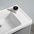 """32"""" Glossy Gray Cabinet with Sink Edge Close Up"""