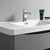 """32"""" Glossy Gray Cabinet with Sink Top"""