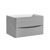 """32"""" Glossy Gray Cabinet Only Side View"""
