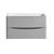"""32"""" Glossy Gray Cabinet Only Front View"""
