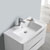 """32"""" Glossy White Cabinet with Sink Overhead View"""