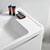 """32"""" Glossy White Cabinet with Sink Edge Close Up"""