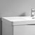 """32"""" Glossy White Cabinet with Sink Top"""
