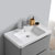 """36"""" Glossy Gray Cabinet with Sink Overhead View"""