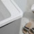"""36"""" Glossy Gray Cabinet with Sink Edge Close Up"""