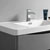 """36"""" Glossy Gray Cabinet with Sink Top"""