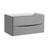 """36"""" Glossy Gray Cabinet Only Side View"""