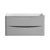 """36"""" Glossy Gray Cabinet Only Front View"""