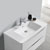 """36"""" Glossy White Cabinet with Sink Overhead View"""