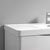 """36"""" Glossy White Cabinet with Sink Top"""