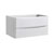 """36"""" Glossy White Cabinet Only Side View"""