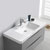 """40"""" Glossy Gray Cabinet with Sink Overhead View"""