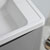 """40"""" Glossy Gray Cabinet with Sink Edge Close Up"""