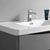 """40"""" Glossy Gray Cabinet with Sink Top"""
