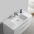"""40"""" Glossy White Cabinet with Sink Overhead View"""