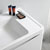 """40"""" Glossy White Cabinet with Sink Edge Close Up"""
