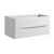 """40"""" Glossy White Cabinet Only Side View"""