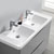 Glossy Gray Double Cabinet with Sinks Overhead View