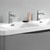 Glossy Gray Double Cabinet with Sinks Top