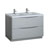 Glossy Gray Cabinet with Sinks Product View