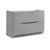 Glossy Gray Double Cabinet Only Side View