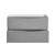 Glossy Gray Double Cabinet Only Drawers Open