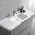 Glossy Gray Single Cabinet with Sink Overhead View