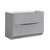 Glossy Gray Single Cabinet Only Side View