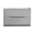 Glossy Gray Single Cabinet Only Front View