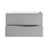 Glossy Gray Single Cabinet Only Drawers Open