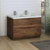 Rosewood Double Cabinet with Sinks Side View