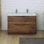 Rosewood Double Cabinet with Sinks Front View