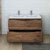 Rosewood Double Cabinet with Sinks Drawers Open
