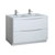 Glossy White Double Cabinet with Sinks Product View