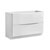 Glossy White Double Cabinet Only Side View