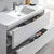 Glossy White Single Cabinet with Sink Close Up