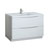 Glossy White Single Cabinet with Sink Product View