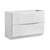Glossy White Single Cabinet Only Side View