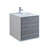 "24"" Glossy Ash Gray Cabinet with Sink Product View"