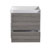 "24"" Glossy Ash Gray Cabinet Only Drawers Open"