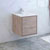 "24"" Rustic Natural Wood Cabinet with Sink Side View"