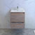 "24"" Rustic Natural Wood Cabinet with Sink Drawers Open"