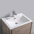 "24"" Rustic Natural Wood Cabinet with Sink Overhead View"