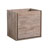 "24"" Rustic Natural Wood Cabinet Only Side View"