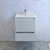 "24"" Glossy White Cabinet with Sink Drawers Open"