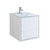 "24"" Glossy White Cabinet with Sink Product View"