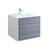 "30"" Glossy Ash Gray Cabinet with Sink Product View"